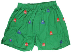Men's Loungewear/Boxers - Barefoot Boxer In Forest Green With Ugly Christmas Sweaters By Castaway Clothing