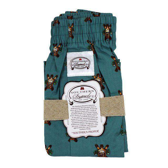 Men's Loungewear/Boxers - Blue Bourbon & Cigars Southern Drawls By Southern Proper