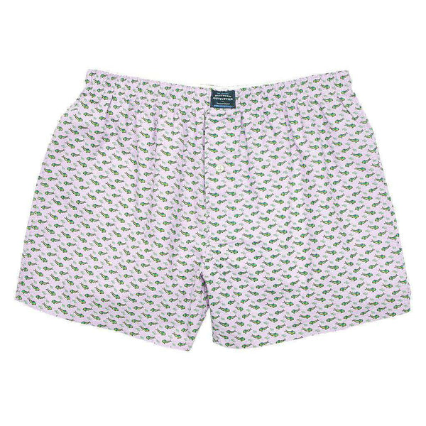 Men's Loungewear/Boxers - Blue Dolphins Hanover Boxer In Wharf Purple By Southern Marsh