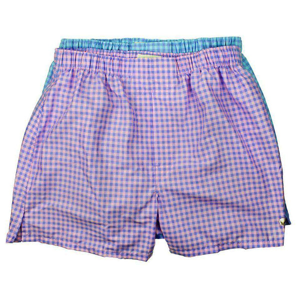 Boxer Twin Set in Aqua and Pink Check by Cotton Brothers