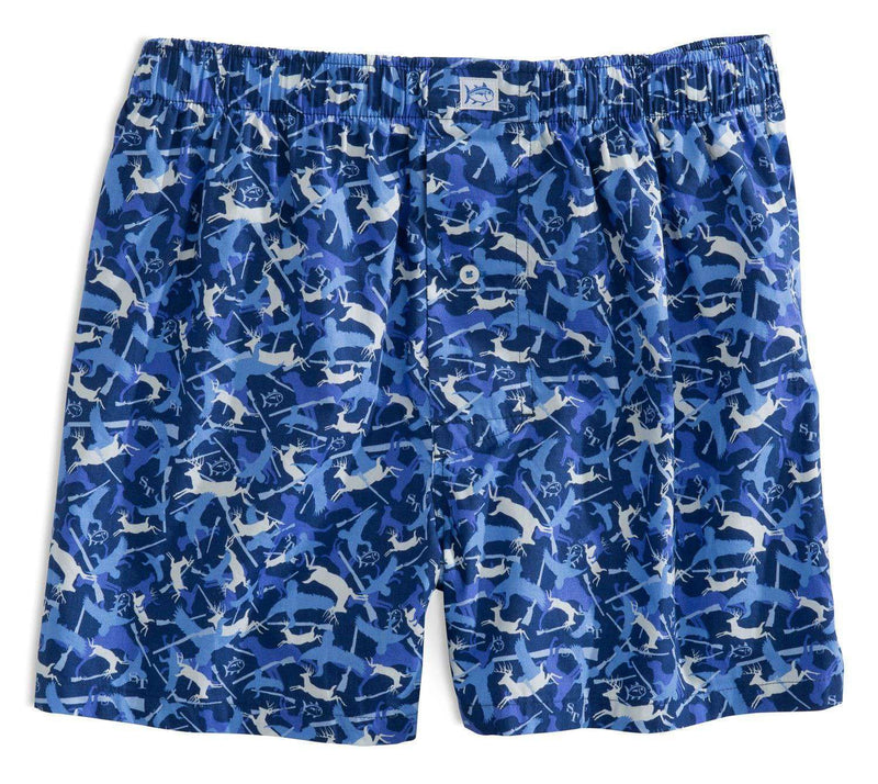 Men's Loungewear/Boxers - Camo Boxers In Blue Depths By Southern Tide