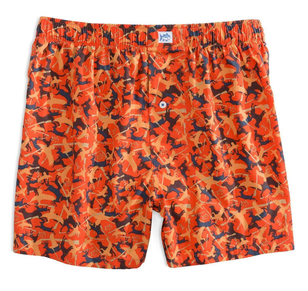 Men's Loungewear/Boxers - Camo Boxers In Orange By Southern Tide