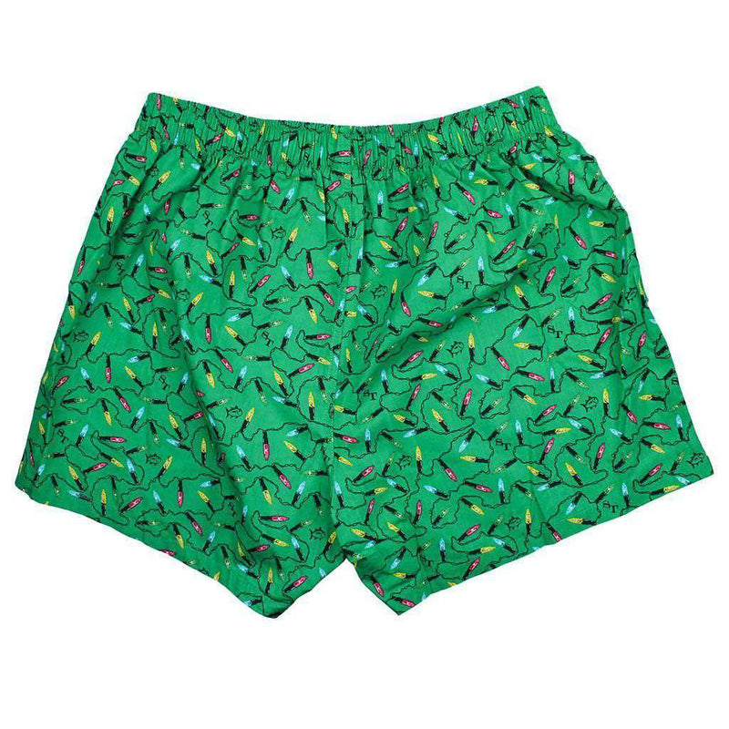 Christmas Light Boxers in Augusta Green by Southern Tide