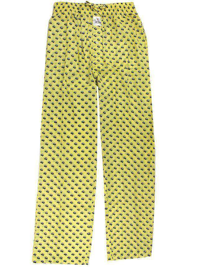 Men's Loungewear/Boxers - Cotton Boll Lounge Pants In Yellow By Southern Proper
