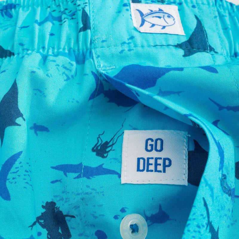 Diver Down Boxer in Turquoise by Southern Tide