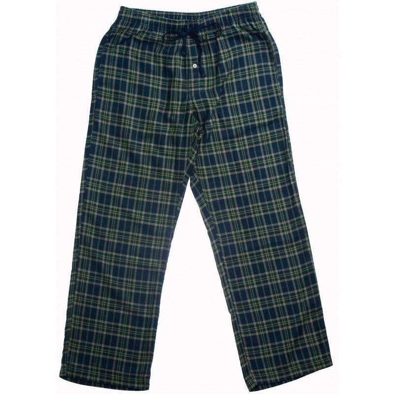Men's Loungewear/Boxers - Flannel Lounge Pants In Moss By Southern Tide