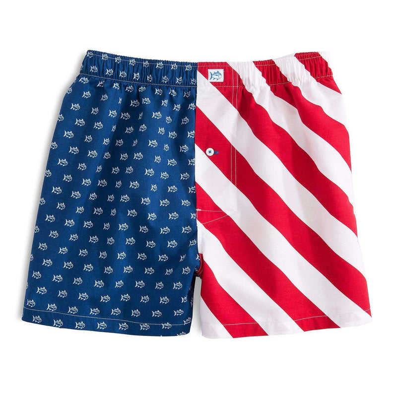 Men's Loungewear/Boxers - Freedom Rocks Boxers In Red, White And Blue By Southern Tide