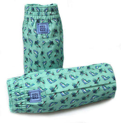 Men's Loungewear/Boxers - Gone Fishin' Sporting Boxers In Turquoise By Bird Dog Bay