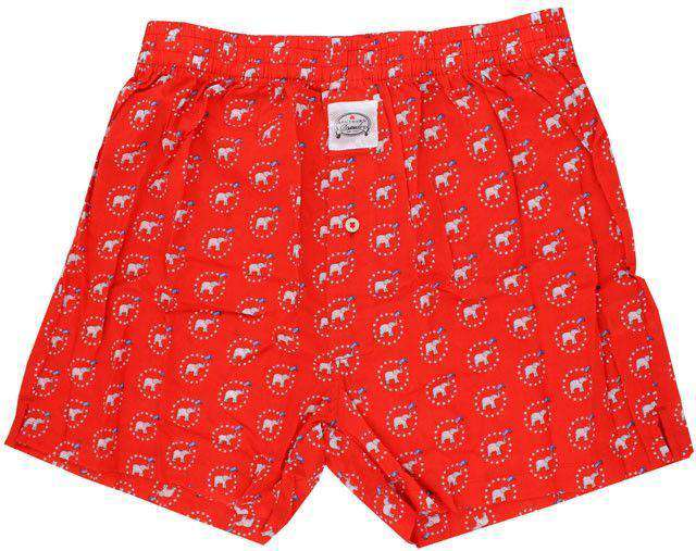Men's Loungewear/Boxers - GOP Southern Drawls In Red By Southern Proper