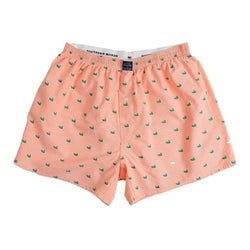 Men's Loungewear/Boxers - Hanover Oxford Boxers In Melon By Southern Marsh