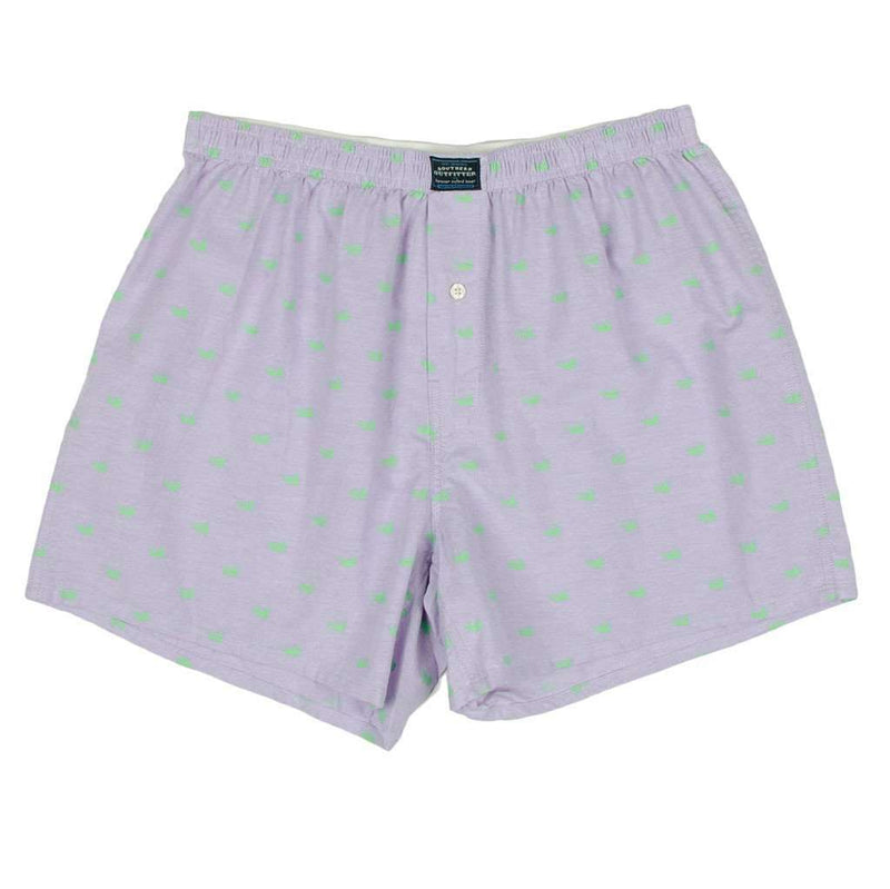 Men's Loungewear/Boxers - Hanover Oxford Boxers In Wharf Purple By Southern Marsh