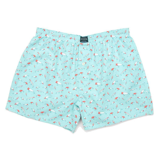 Men's Loungewear/Boxers - Lures Hanover Boxers In Antigua Blue By Southern Marsh