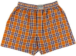 Men's Loungewear/Boxers - Men's Boxers In Orange And Navy By Olde School Brand - FINAL SALE