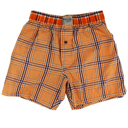 Men's Loungewear/Boxers - Men's Boxers In Orange And Purple Plaid By Olde School Brand - FINAL SALE