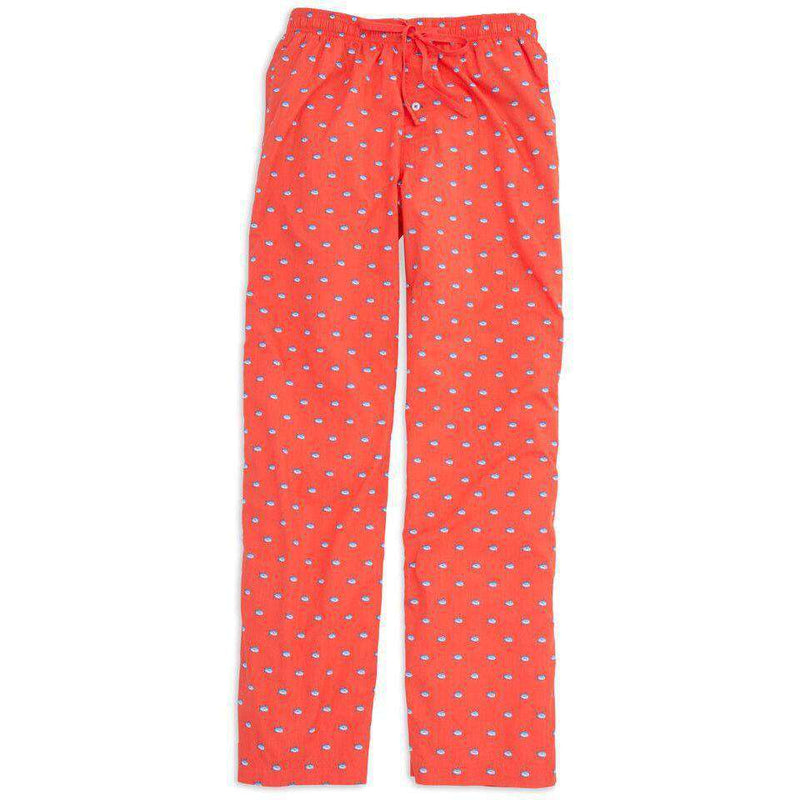 Men's Loungewear/Boxers - Men's Skipjack Lounge Pants In Orange Sky By Southern Tide - FINAL SALE