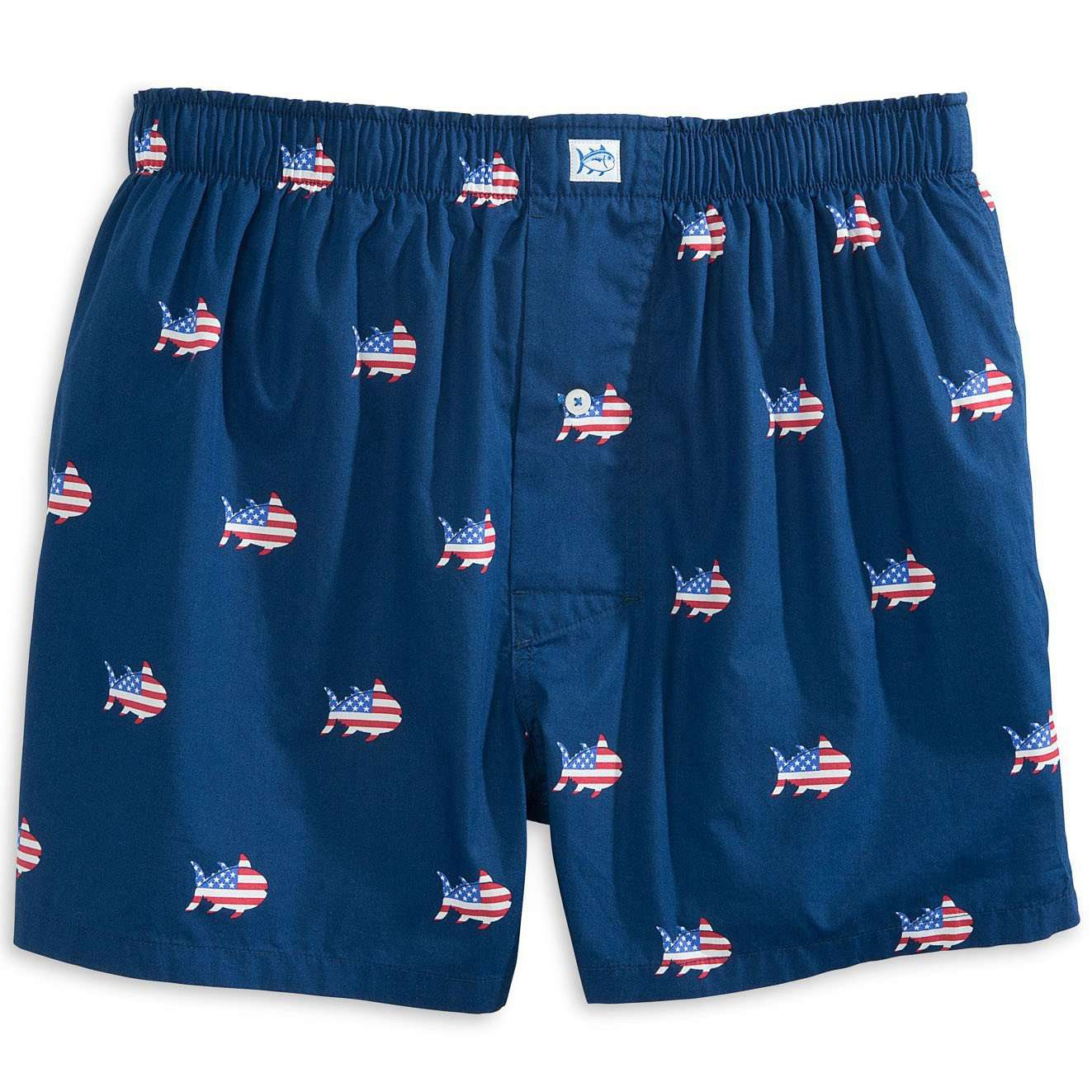 Men's Loungewear/Boxers - Oh Say Can You Sea Boxer In Yacht Blue By Southern Tide