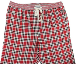 Men's Loungewear/Boxers - Pajama Pants In Crimson And Black Madras By Olde School Brand - FINAL SALE