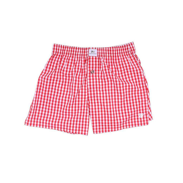 Men's Loungewear/Boxers - Rainmaker Red Gingham Boxer/Brief By Private Holdings