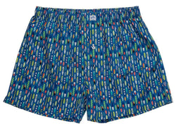Men's Loungewear/Boxers - Ride The Tide Boxers In Riviera Blue By Southern Tide