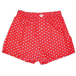 Men's Loungewear/Boxers - Skipjack Boxers In Channel Marker Red By Southern Tide