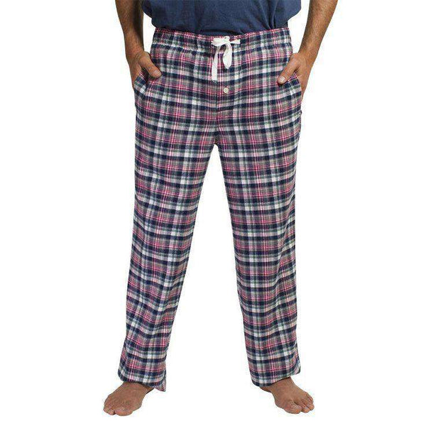 Men's Loungewear/Boxers - Sleeper Pants In Twin Plaid By Castaway Clothing - FINAL SALE