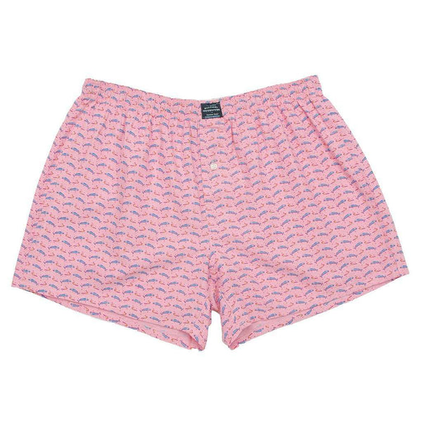Men's Loungewear/Boxers - Wahoo Hanover Boxer In Pink By Southern Marsh