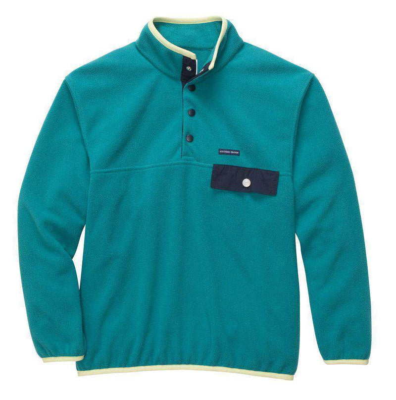 Men's Outerwear - All Prep Pullover In Blue Grass By Southern Proper - FINAL SALE