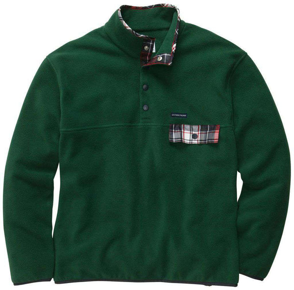 Men's Outerwear - All Prep Pullover In Hunter Green By Southern Proper - FINAL SALE