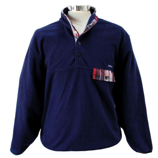 Men's Outerwear - All Prep Pullover In Navy By Southern Proper - FINAL SALE