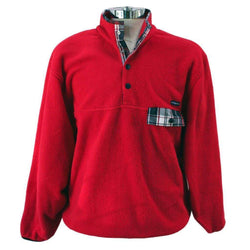 Men's Outerwear - All Prep Pullover In Red By Southern Proper