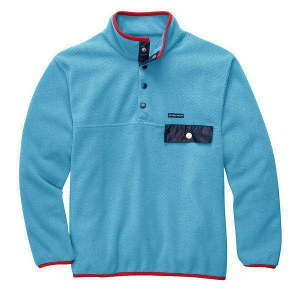 Men's Outerwear - All Prep Pullover In Retro Blue By Southern Proper - FINAL SALE