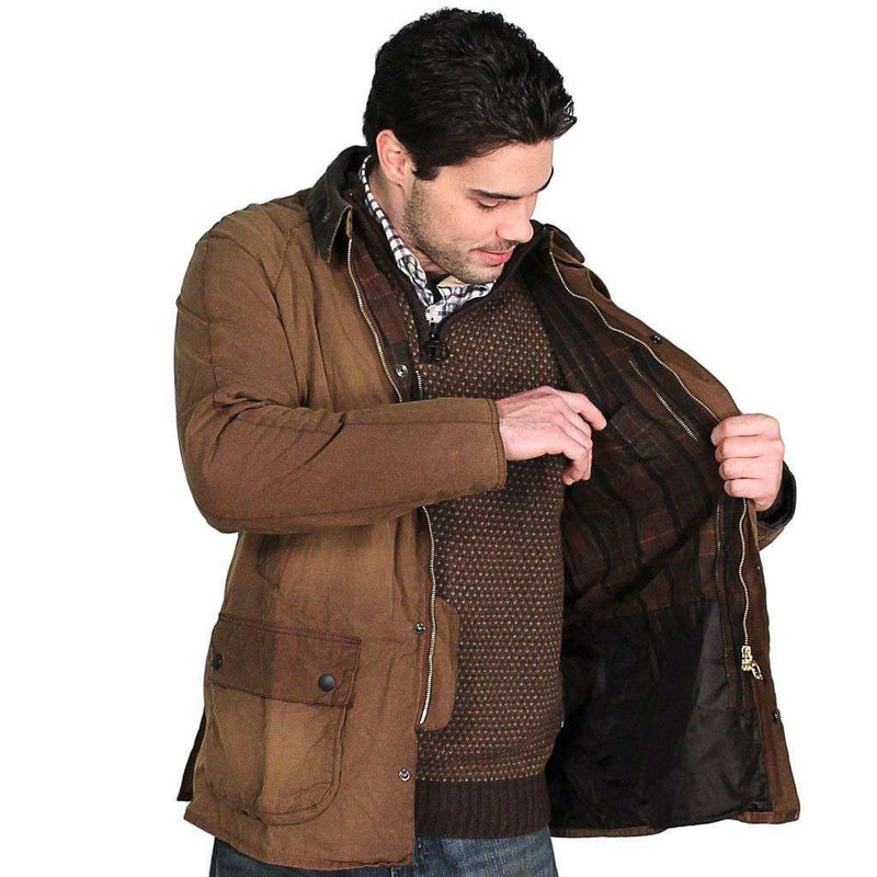 Men's Outerwear - Ashby Washed Jacket In Bark Brown By Barbour