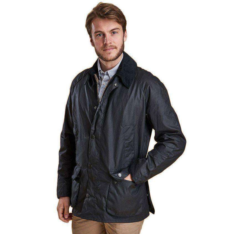 Men's Outerwear - Ashby Waxed Jacket In Navy By Barbour