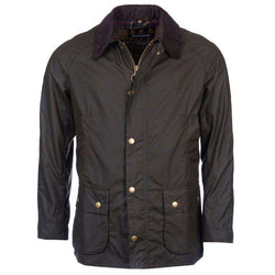 Men's Outerwear - Ashby Waxed Jacket In Olive By Barbour