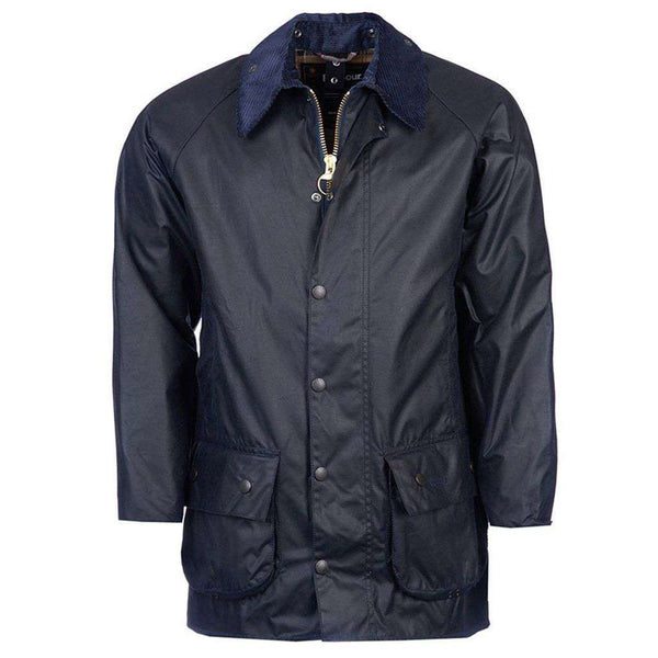 Beaufort Waxed Jacket in Navy by Barbour - FINAL SALE