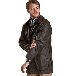 Classic Beaufort Waxed Jacket in Olive by Barbour - FINAL SALE