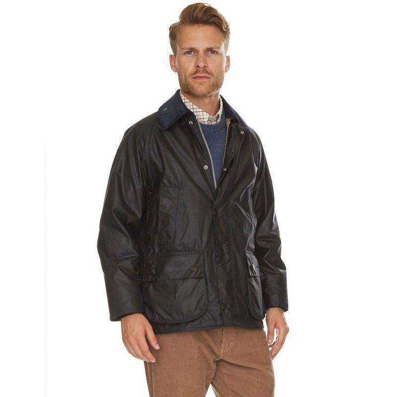 Men's Outerwear - Classic Bedale Waxed Jacket In Navy By Barbour