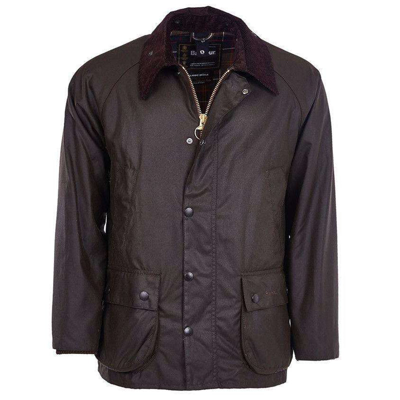 Classic Bedale Waxed Jacket in Olive by Barbour - FINAL SALE