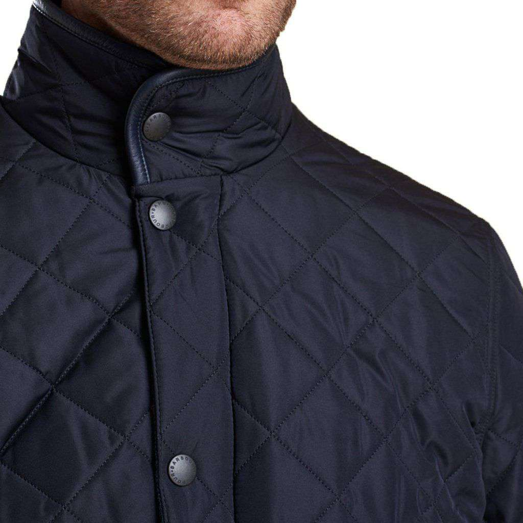 clothing gallery in mens quilt barbour normal lyst jacket chip for product quilted black men pantone