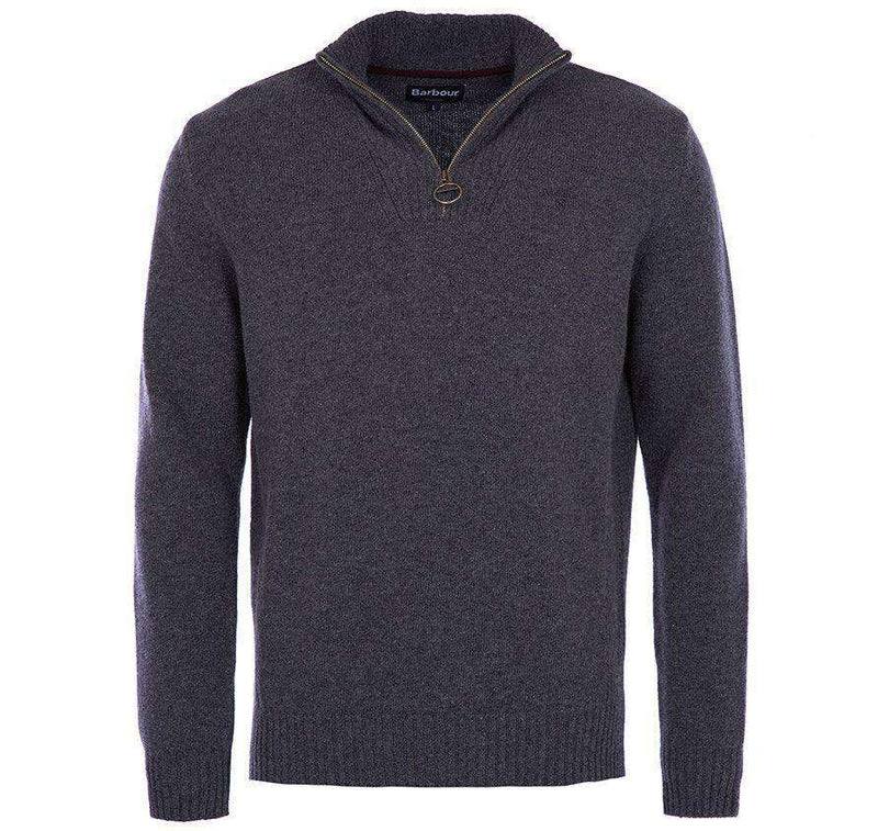 Essential Lambswool Half Zip Pullover in Charcoal by Barbour - FINAL SALE