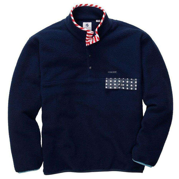 EXCLUSIVE Old Glory All Prep Pullover in Navy by Southern Proper  - 1