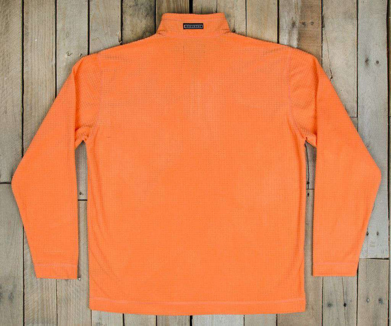 Men's Outerwear - FieldTec Dune Pullover In Orange With Camo Pocket By Southern Marsh