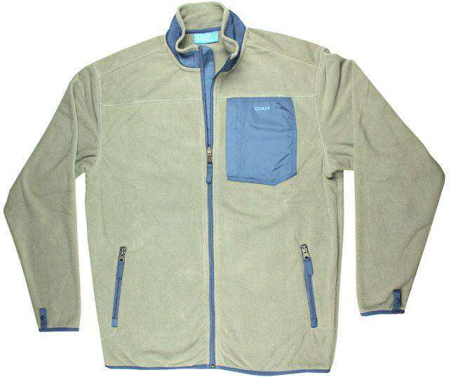 Men's Outerwear - Fleece Jacket In Grey By Coast - FINAL SALE