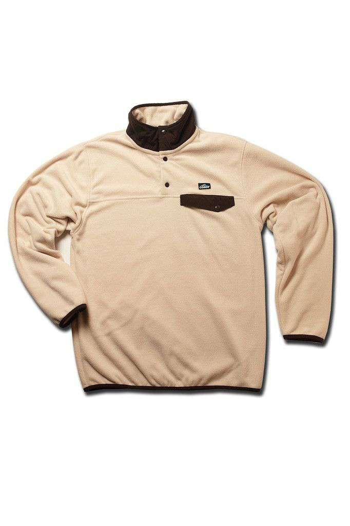 Fleece Pullover in Sail/Mocha by Coast - FINAL SALE