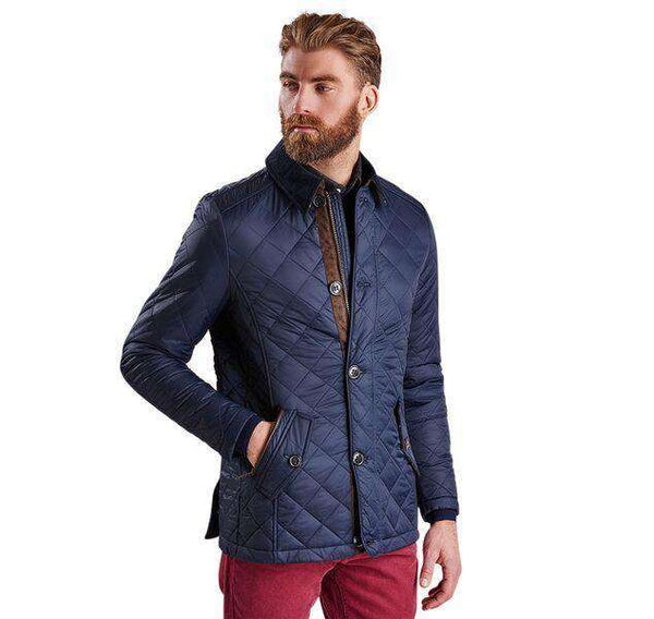 Barbour Fortnum Quilted Jacket In Navy Country Club Prep
