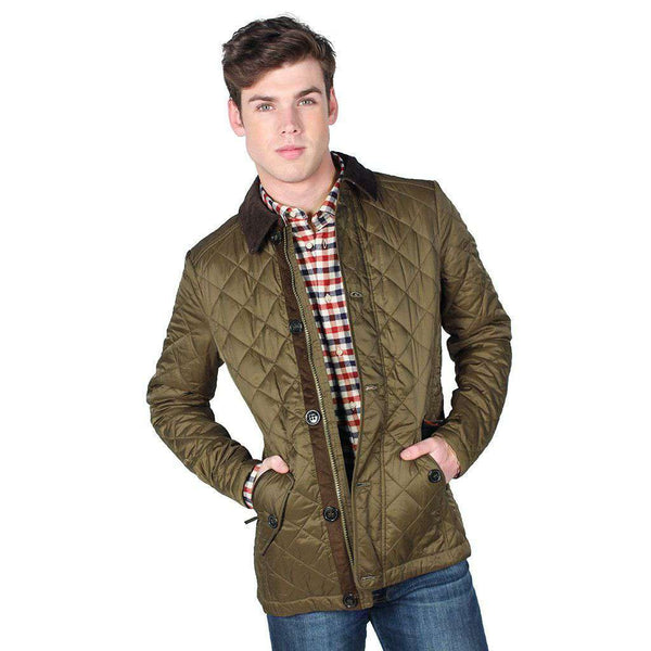 8dd8aebf80c3 ... Men s Outerwear - Fortnum Quilted Jacket In Olive By Barbour
