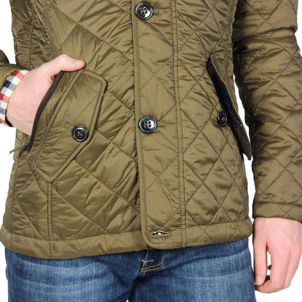 Barbour Fortnum Quilted Jacket In Olive Country Club Prep