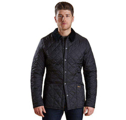 Men's Outerwear - Heritage Liddesdale Quilted Jacket In Black By Barbour
