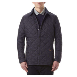 Men's Outerwear - Heritage Liddesdale Quilted Jacket In Navy By Barbour