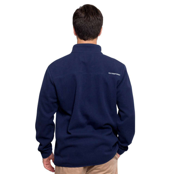 Keeler 1/4 Zip Pullover in Capital Blue by The Southern Shirt Co.